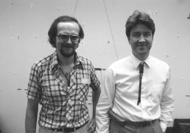 K. George Godwin with David Lynch at Universal Studios, 1981