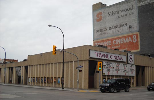 The Towne 8, only remaining downtown commercial theatre