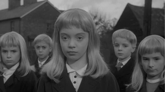 The alien children in Village of the Damned (1960),Wolf Rilla's film of John Wyndham's The Midwich Cuckoos