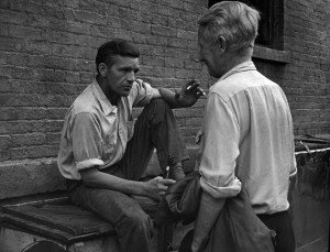 A photo of Ray Salyer and Gorman Hendricks from On the Bowery (1956)