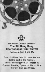 Advertisement for 1981 Hong Kong International Film Festival