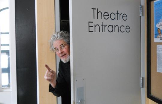 Filmmaker Craig Baldwin at the Cinematheque in Winnipeg