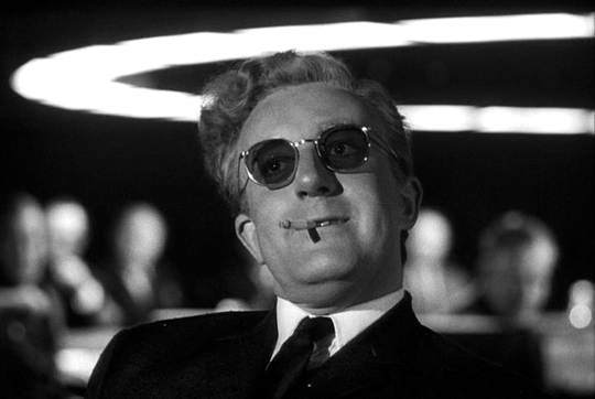 photo of Peter Sellers as Dr. Strangelove in Stanley Kubrick's 1964 film Dr. Strangelove