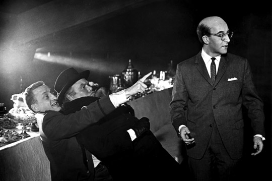 photo of the fight in the War Room in Stanley Kubrick's 1964 film Dr. Strangelove