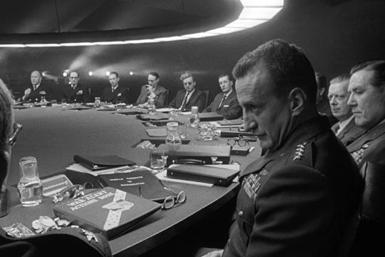 photo of George C. Scott in Stanley Kubrick's 1964 film Dr. Strangelove