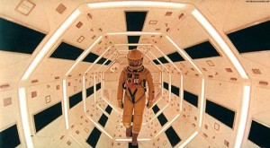 Astronaut Bowman on his way to lobotomize HAL 9000 in 2001: A Space Odyssey (1968)