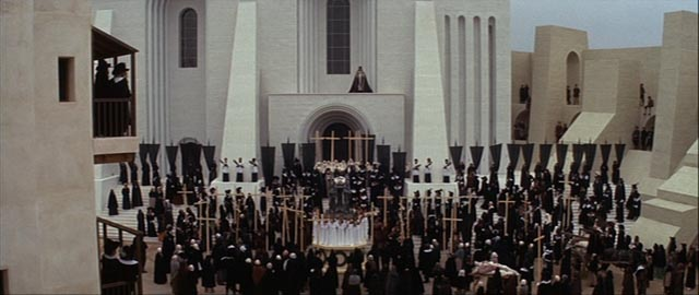 Father Grandier addresses the citizens of Loudun at the Governor's funeral