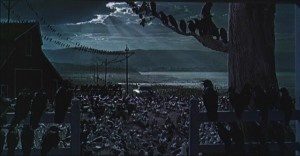 The unresolved ending of Hitchcock's The Birds
