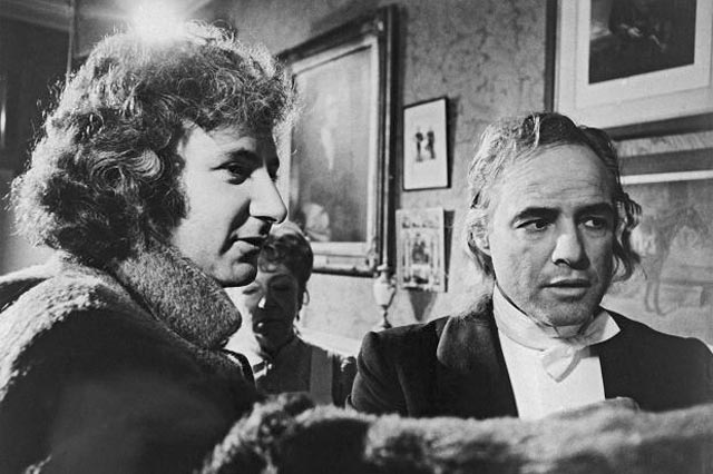 Michael Winner directs Marlon Brando on the set of The Nightcomers