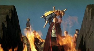 Rip Torn, gleefully evil as high priest Maax in Don Coscarelli's The Beastmaster (1982)