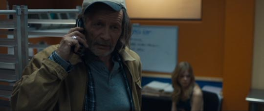Harold (Stephen Payne) doubts Officer Daniels