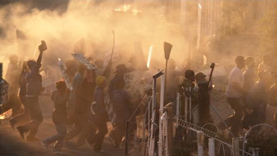 Civil unrest in the townships