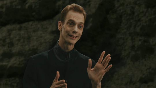 Doug Jones as a messenger from another dimension