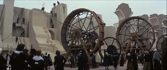 The destruction of the city walls in Ken Russell's masterpiece The Devils