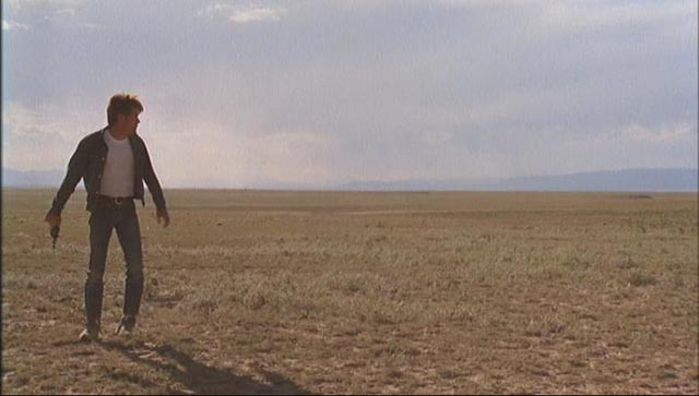 Martin Sheen as self-mythologizing killer Kit in Badlands (1973)