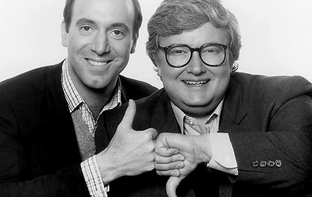 Roger Ebert (r) and Gene Siskel: the two infamous thumbs