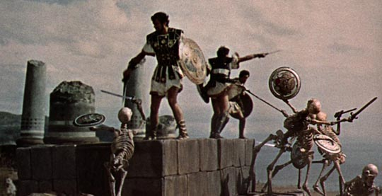 Battle with the skeletons: Jason & the Argonauts