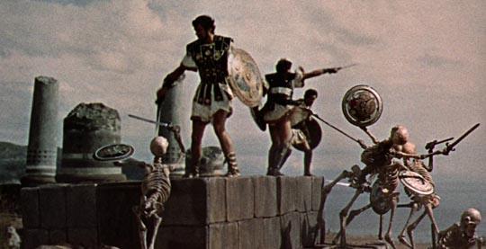 Battle with the skeletons: Jason & the Argonauts