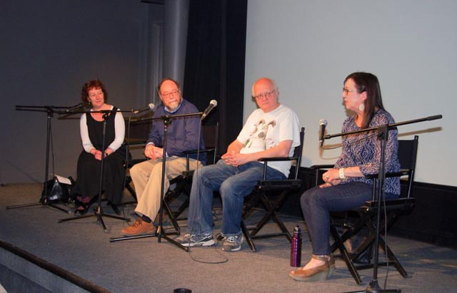 Brenda, Howard, me & Tricia: It's easy to see who feels the least comfortable on the panel! (Photo by Ken Spicer)