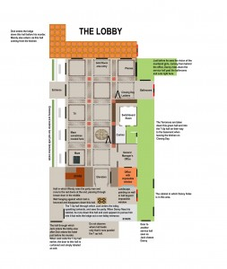 Juli Kearns' layout of the Overlook lobby