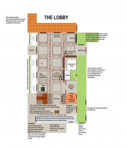 Juli Kearns' layout of the Overlook lobby