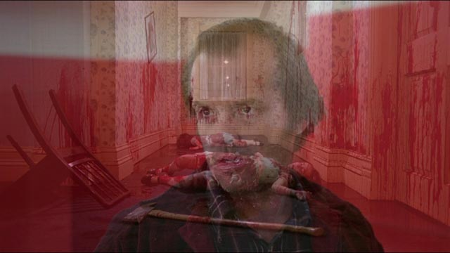 Startlingly resonant image created by playing The Shining backwards and forwards over itself simultaneously