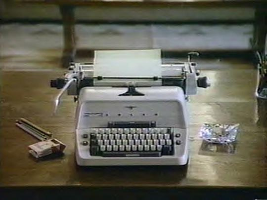 The typewriter: portent of Holocaust or just a sturdy prop?