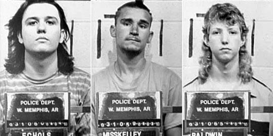 Echols, Misskelley & Baldwin under arrest