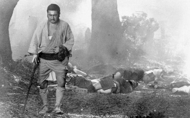 Shintaro Katsu as Zatoichi, the blind swordsman
