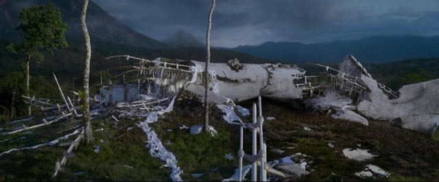 The wrecked ship in After Earth