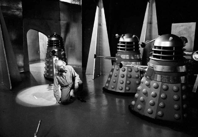William Hartnell, the one, true Doctor Who, faces his longest running foes, the Daleks.