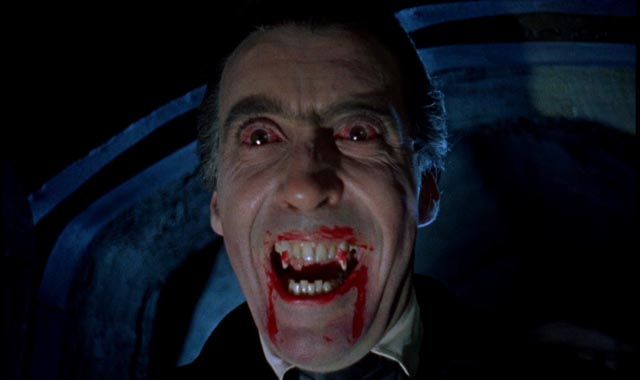 The quintessential mid-century vampire: Christopher Lee as Hammer's Dracula (1958)