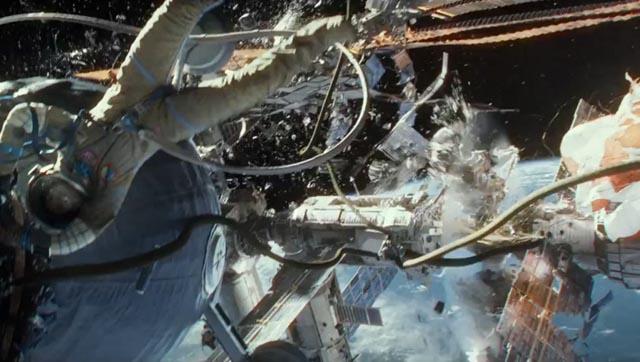 Lost in space: Sandra Bullock among the debris