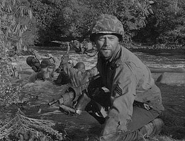 Vic Morrow as Sgt. Saunders in the thick of World War Two: Combat! (1962-67)
