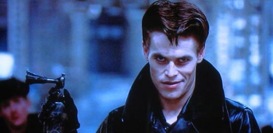 Young Willem Dafoe in Streets of Fire