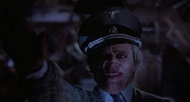 Iconography of madness and evil: Klaus Kinski in lipstick and Nazi uniform in Crawlspace (1986)