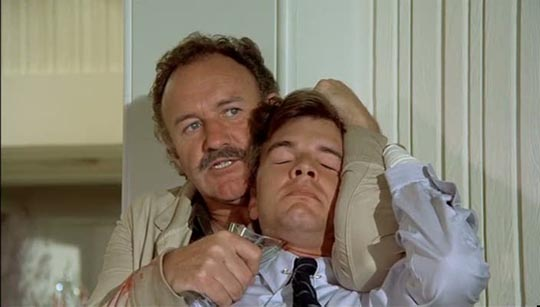 Gene Hackman gets annoyed with Edward Albert