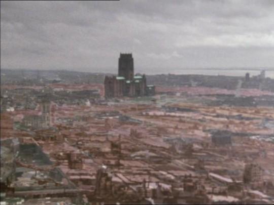 The devastated city