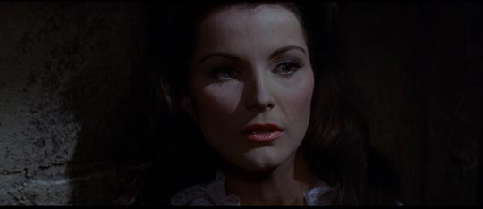 Debra Paget as Ward's frightened wife