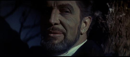 Vincent Price as Ward possessed by Curwen