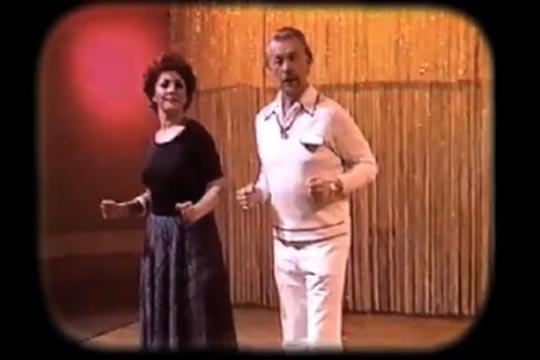 Disco lessons on Estonian TV