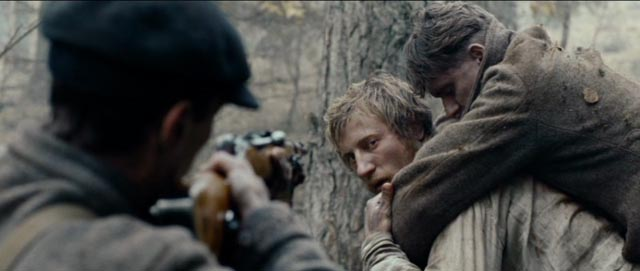 The burdens of war: Shushenya (Vladimir Svirskiy) in Sergei Loznitsa's In the Fog (2012)