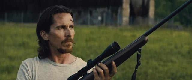Life bringing you down? Get a gun: Christian Bale in Out of the Furnace (2013)