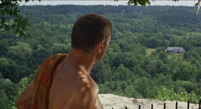 Ned Merrill (Burt Lancaster) surveys his New England paradise in Frank Perry's The Swimmer
