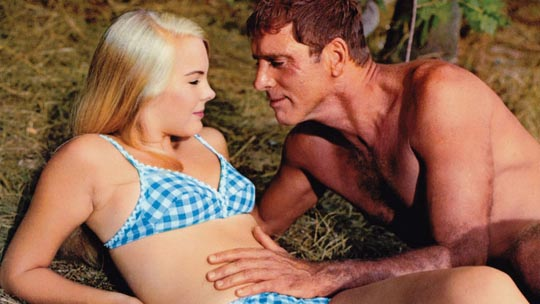 Merrill and his daughters' former babysitter (Janet Landgard)