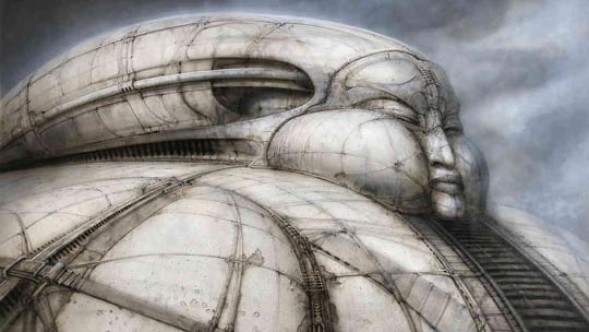 Giger's design for Castle Harkonnen