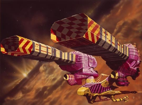Chris Foss spaceship design