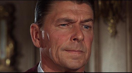 Ronald Reagan, unhappy to be the villain