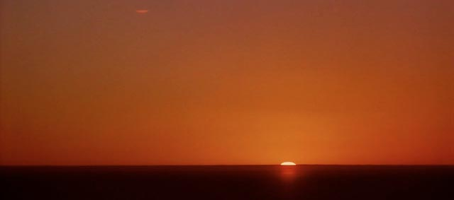 signalling a cut to the desert sunrise in Lawrence of Arabia (1962)