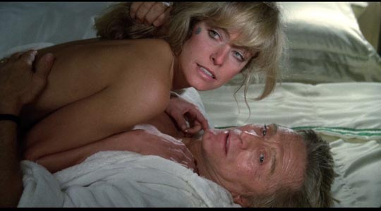 Farrah Fawcett and Kirk Douglas